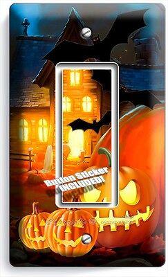 Halloween Ghost Pumpkins Gfi Single Light Switch Wall Plate Cover Art Decoration Ebay
