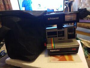 Vintage-Polaroid-Super-Color-635-Camera-L-M-Program-amp-Carry-Case-TESTED-WORKING