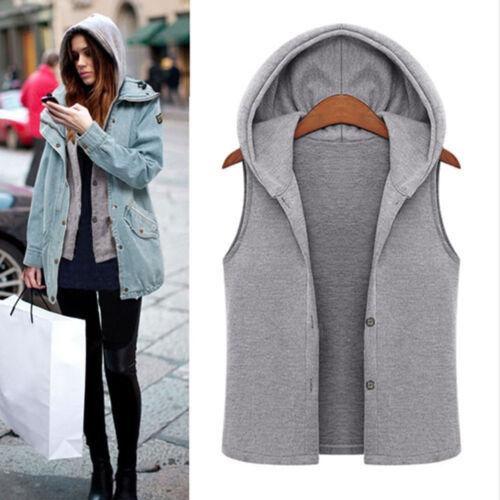 Les femmes hiver chaud col à capuche long manteau Veste Denim Trench Parka Outwear US