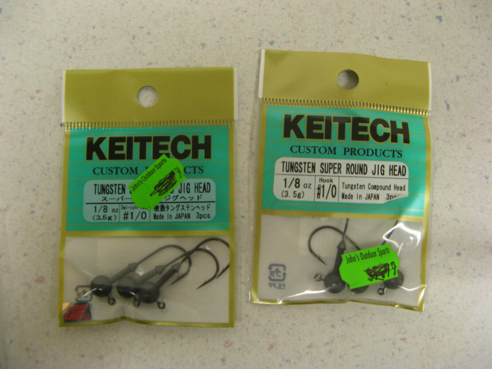 Keitech Tungsten Super Round Jig Heads Lead-Free Bass Fishing Jigheads