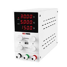 Dc Power Variable Supply 30v 5a 4digital Display Adjustable Regulated Switching