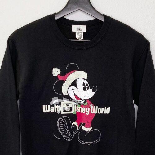 Walt Disney World Christmas Kids Sweatshirt Holiday Mickey Buffalo Plaid Medium