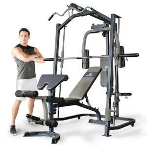 marcy mp3100 smith machine press home multi gym with