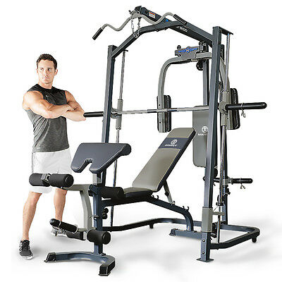 marcy mp3100 smith machine press home multi gym with adjustable weight bench ebay
