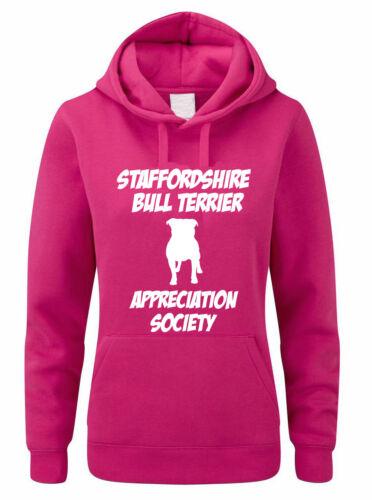 STAFFORDSHIRE BULL TERRIER APPRECIATION SOCIETY Themed Women/'s Hoody //Hoodies