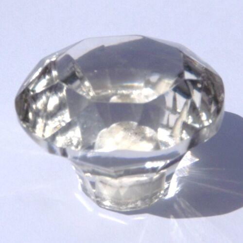 large clear crystal cut glass wardrobe /& cupboard pulls door knobs 50 mm