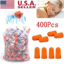 400pc Ear Plugs Lot Bulk Soft Orange Foam Sleep Travel Noise Shooting Earplugs