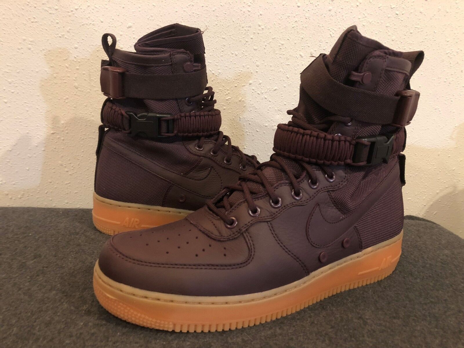 Nike Air Force Force Force 1 SF High Sz 11.5  864024-600 Burgundy Special Field Ltd NSW DS 62b0a2