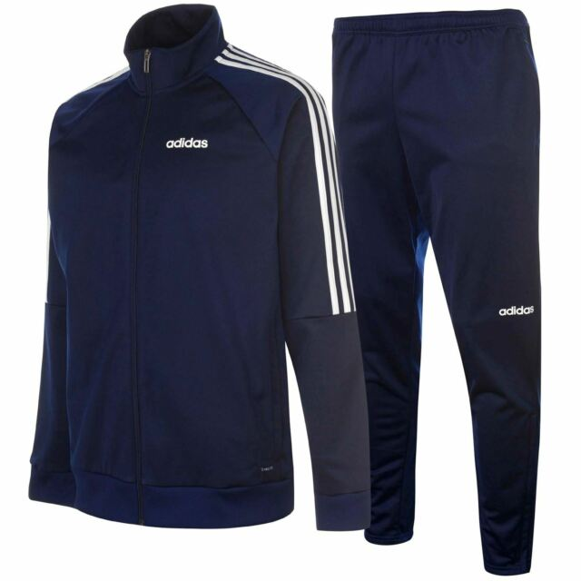 adidas Mens Sereno Tracksuit Set Zip Front Top And Track Bottoms Jogging Joggers