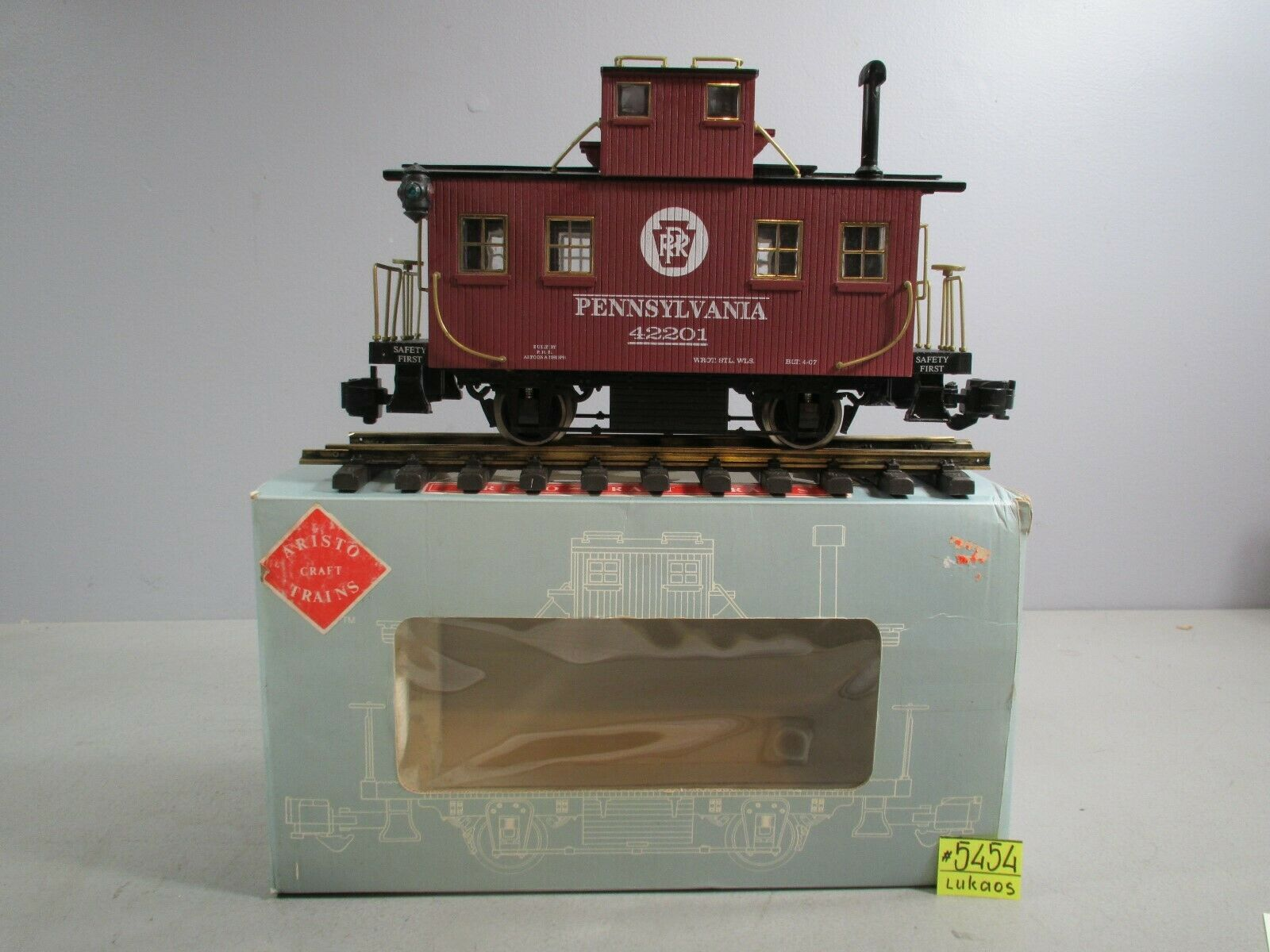 ARISTOCRAFT TRAINS G SCALE  ART-42201 BOBBER CABOOSE O.B.C-7.