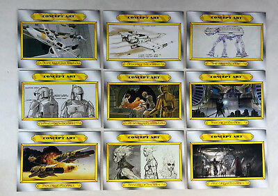 Star Wars Journey to the Force Awakens Concept Art set of 9