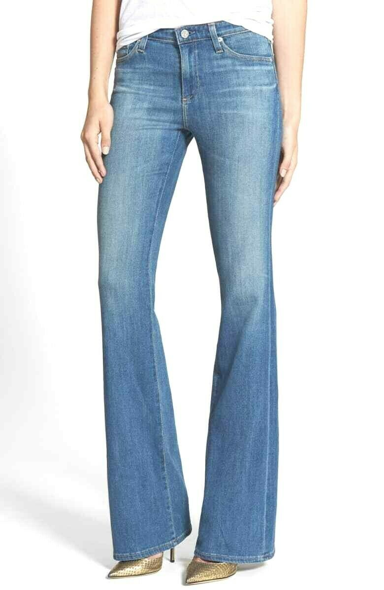 AG Adriano goldschmied THE ANGEL WOMENS BOOT CUT JEANS IN BOUNDLESS WASH 25 NWT