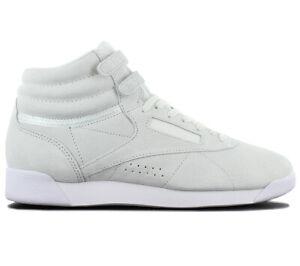 Reebok Wmns Freestyle Hi NBK Leather Damen Sneaker CN0604 Sportschuhe Schuhe NEU