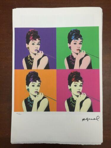 Andy Warhol Lithographie 57 X 38 Arches Stempel Trocken Israel Schlösser An337