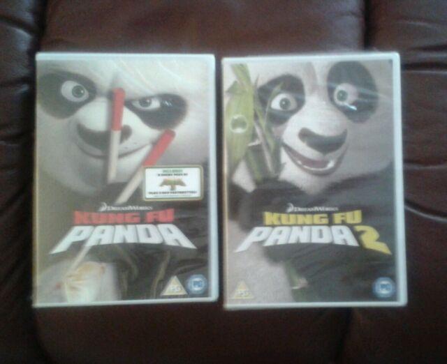 KUNG FU PANDA 1 & 2 DVDs *** NEW & SEALED ***