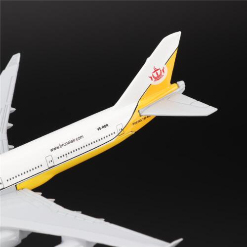 16cm Boeing B747 Luft Brunei Flugzeug Modell mit Ständer Kollektionen