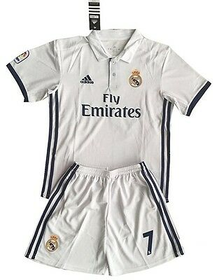 Ronaldo Home Football Soccer Jersey shirt And Shorts Suit Kit Set Kids \ Youths