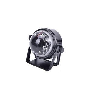 1PC pivoting compass dashboard dash mount marine boat truck car black Kn