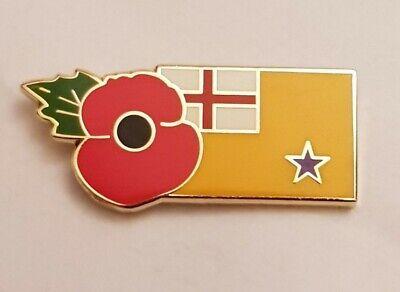 WW2 ULSTER SCOTS SCOTTISH FLAG POPPY ENAMEL BADGE BRITISH OI