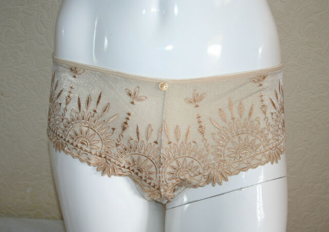 4f53fde7d Chantelle Africa Womens Gold Lurex Brazilian Knickers Briefs Size XL New