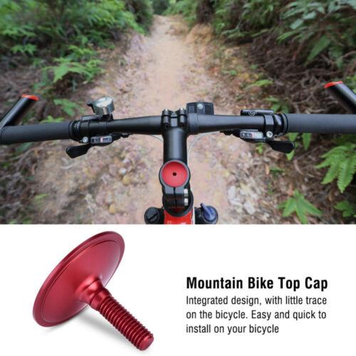 Mountain Bike Top Cap Bicycle Headset 28.6mm Dustproof MTB Stem Cover Aluminum