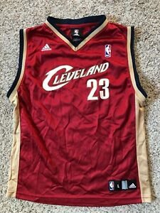 best website 4b85d 7628c Details about Adidas NBA Cleveland Cavaliers Lebron James #23 Basketball  Jersey Youth Sz L