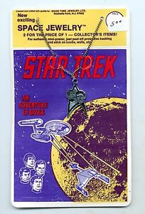 Star Trek Space Jewelry Mini Poster and Necklace Star Trek Symbol Spock