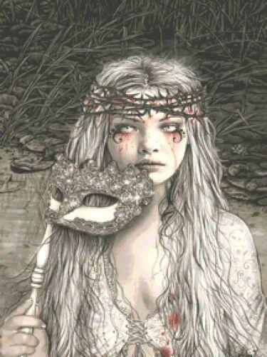 La Dolorosa Counted Counted Cross Stitch Kit Victoria Frances Fantasy Goth