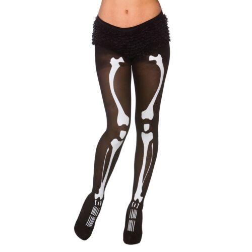 Adult Skeleton Tights Halloween Bones Adults Womens Fancy Dress Costume