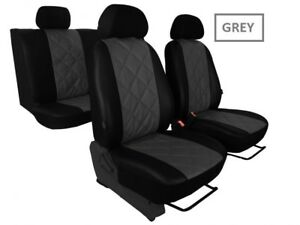 Alicante+Eco-Leather Tailored Full Set Seat Covers For Nissan Qashqai 2007-2013