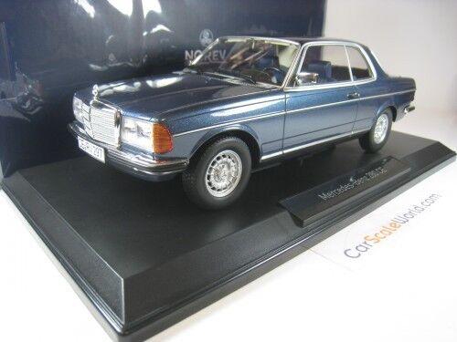 MERCEDES BENZ 280 CE 1980 W123 1 18 NOREV (bleu METALLIC)