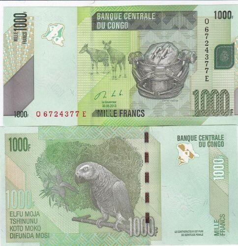 1000 Francs 2013 UNC Lemberg-Zp Congo DR