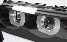 SCHEINWERFER LED ANGEL EYES STANDLICHTRINGE F BMW E38 7er 94-01 SCHWARZ TÜV-FREI