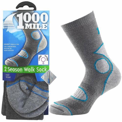 1000 Mile Sportswear 2 Stagione Da Passeggio Calzini COOLMAX LANA DA PASSEGGIO LEGGERI