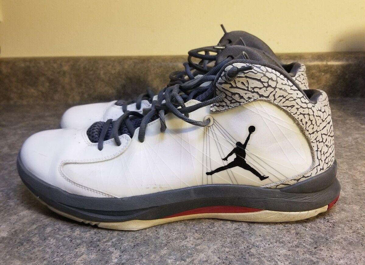 Nike Air Jordan Aero Flight Mens 13 White Black Red Rare Color 524959-103