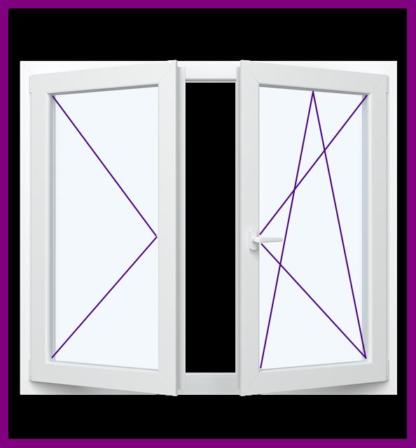 Dreh Kipp 2 Flügel Fenster 5 Kammer Ovlo Classic