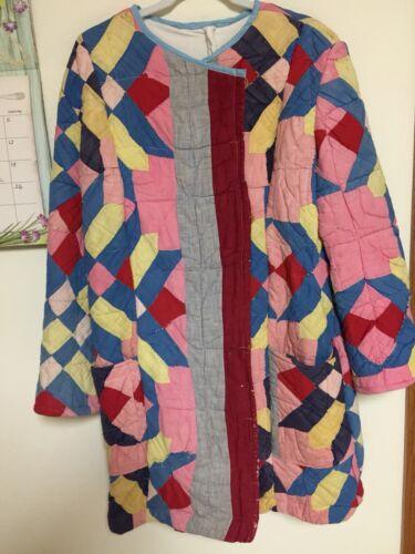 Vintage Quilt Coat Size Medium OOAK $185