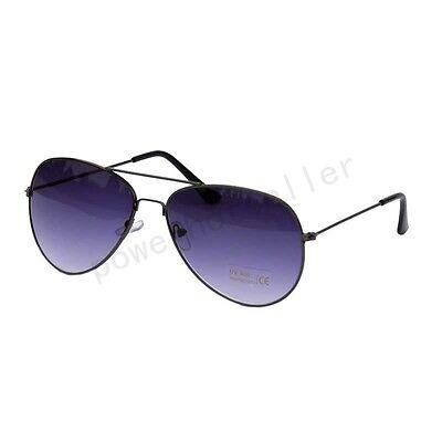 Unisex Aviator Retro Mens Womens Silver Metal Frame Mirrored Lens Sunglasses