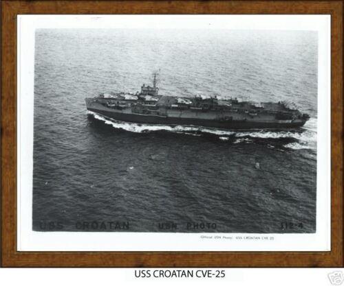 USN Navy USS CROATAN CVE 25  Naval Ship Photo Print