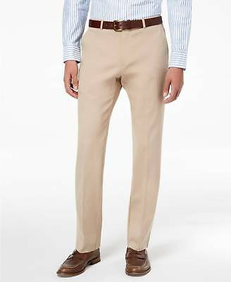 $225 TOMMY HILFIGER Men/'s BEIGE SLIM TAPERED FIT CHINO CASUAL PANTS SIZE 36W 34L