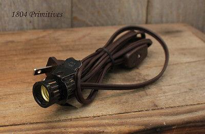 Lamp Making Snap-In Candelabra Socket Electrical Cord ~ Brown