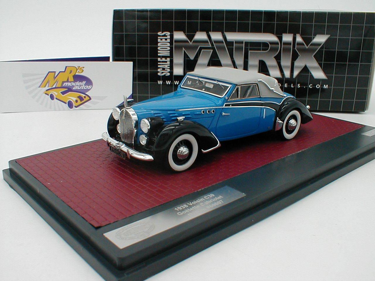 Matrice 52108-012   Hood c30 GOELETTE Cabriolet Dubos année modèle 1938  Bleu  1 43