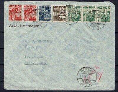 Indien Minr 333-336 Auf Brief Ab Bandoeng 13.9.1947 Einfach Und Leicht Zu Handhaben Niederlande & Kolonien Zielsetzung Niederländisch