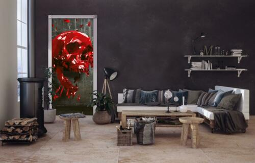 Vlies Fototapete XXL Tapete Poster 193968FW Rot Totenkopf Abstraktion und Kunst