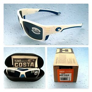 a4dcda34472 Costa Del Mar White Frame 100% Polarized 580P Lenses CZ 90 OGP ...