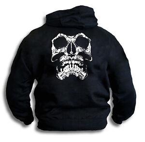 Skull-Biker-Gothic-Pirate-Grunge-Distressed-Mens-Hoody-Hooded-Top-Sm-2XL-Rear