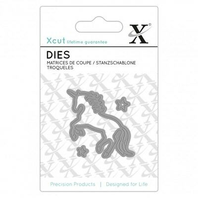 3 MINI FUSTELLE PER BIG SHOT SIZZIX UNICORNO STELLINE star XCUT