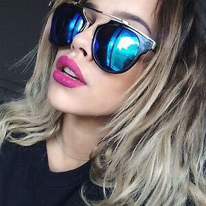 00207676a8 Image is loading Sexy-Designer-Inspired-Aviator-Sunglasses-Mirrored-Lens- Women-