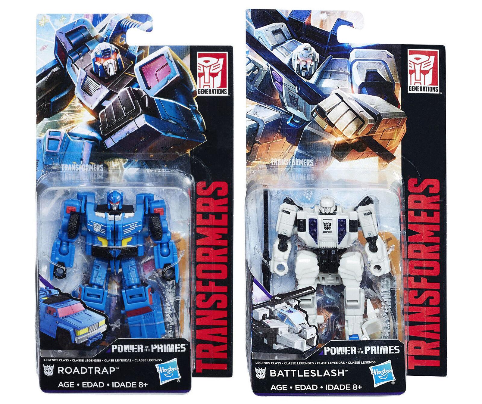 Transformers Power of the Primes Legend Roadtrap &  Battleslash (Battletrap) New