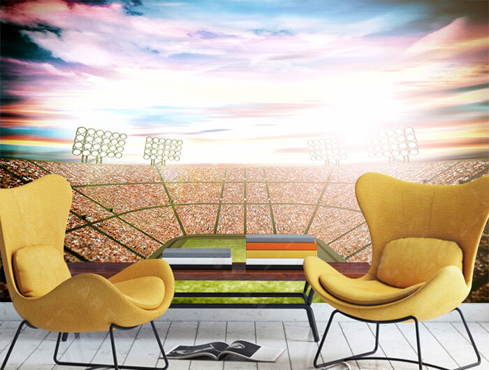 3D Stadium, pitch Wall Paper Wall Print Decal Wall Deco Indoor Wall Murals